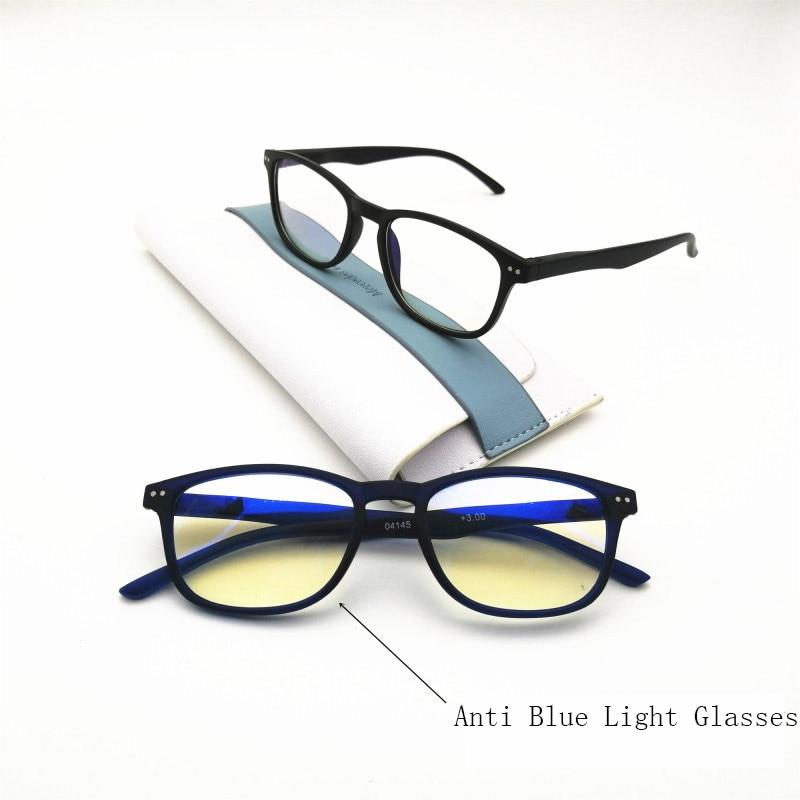 Rectangle Reading Glasses Women Men Anti Blue Ray Light Fashion Vintage Computer Eyeglasses Presbyopic Glass Diopter 0~+300