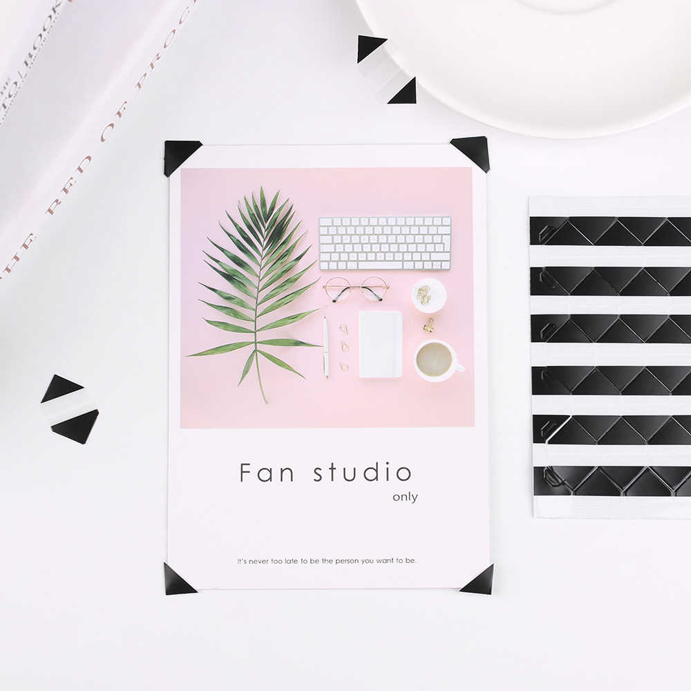 102pcs/sheet Fashion DIY Handmade Colorful Photo Corner Scrapbook Paper Photo Albums Frame Picture Decoration PVC Stickers