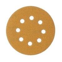 5-Inch 8-Hole Golden Yellow Matte Paper Fits D eWalt DW421 DW423 5-inch Ryobi B osch 3107 3725 Makita B05010