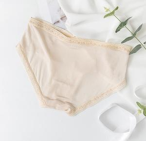 Image 3 - 3 pack Womens 100% Silk Lace Thin Sexy Panties Briefs Underwear Lingerie M L XL TG005