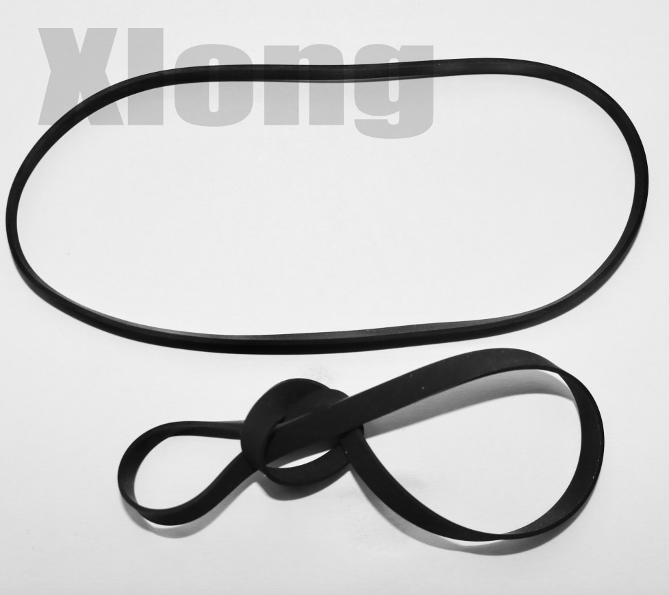 2Pieces/Lot Fold Length:185mm Width:4mm Thickness:0.6mm Opener Phonograph Audio Drive Belt Transmission Flat Belt
