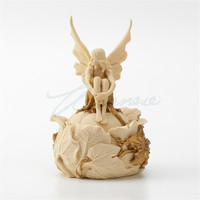 CREATIVE FLOWER FAERIE JEWEL BOX ART SCULPTURE ANGEL FIGURE STATUE RESIN CRAFT JEWELRY BOX HOME DECORATION BIRTHDAY GIFT R3115
