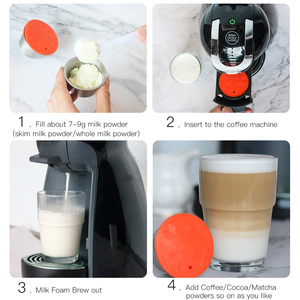 Image 4 - Stainless Steel Refillable Capsule Cup Compatible For Dolce Gusto Coffee Milk Powder Reusable Filter Eco Friendly Food Grade