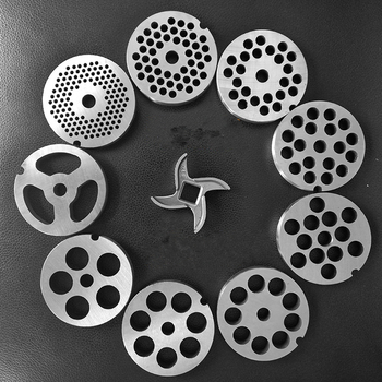 12# 22 32 Meat Grinder Blade Stainless Steel Cross Head Hole Plate Grate Screen Sieve Plate Meat Grinder Accessories Replacement free shipping 22 round knife blade meat grinder meat grinder accessories stainless steel meat grinder part fit beko