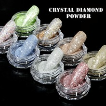 1g/box Sparkly Nail Crystal Diamond Powder New Laser Burst Flash Sugar Diamond Woolen Glitter DIY Nail Art Decorations 3d Charms