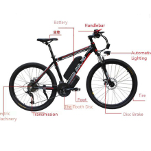 Smlro 48v 15A 350 Вт 26 дюймов с приводом от двигателя электрический велосипед горный велосипед автомобиля bicicleta Лонгборда, фара для электровелосипеда