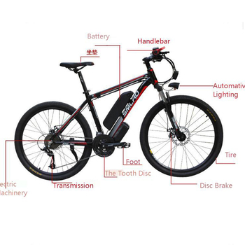 Smlro 48v 15A 350W 26 Inch Motor-driven electric bike Bicycle Mountain Vehicle bicicleta electrica ebike 1