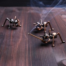 1pc Ant Shape Portable Alloy Copper Incense Holder Can Be Fixed Incense Sticks And Coil Burner Censer High Incense Plug cheap EH-LIFE Metal Assuaging and Calming Incense Stove No electricity Living Room Incense Base Smell Removing Dehumidification