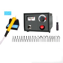 EU Plug,220V Adjustable Temperature Wood Burner Branding Brush Burner Hoist Handicraft Tool Set