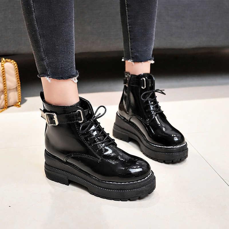 2020New gelenler yumuşak deri yarım çizmeler kadınlar rahat orta topuklu çizmeler bayanlar için bahar sonbahar kadın ayakkabı Size35-40