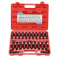 23PCS Terminal Release Tools Set Harness Connector Remover Tool Package Hand Tool Kit with Plastic Toolbox Storage