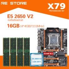 Kllisre X79 Bo Mạch Chủ Bộ Xeon E5 2650 V2 4X4GB = 16GB 1333MHz DDR3 ECC REG Nhớ ATX USB3.0 SATA3 PCI E NVME M.2 SSD