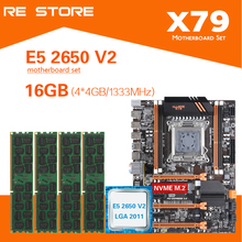 طقم لوحة أم Kllisre X79 مع ذاكرة Xeon E5 2650 V2 4x4GB = 16GB 1333MHz DDR3 ECC REG ذاكرة ATX USB3.0 SATA3 PCI E NVME M.2 SSD