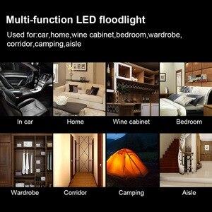 Image 5 - Safego luz de lectura de coche LED Universal, lámpara magnética recargable por USB para techo de coche, luz nocturna blanca de 5V CC
