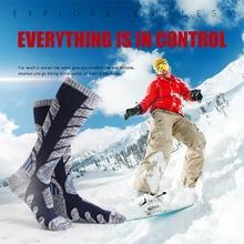 Носки для сноубординга, сохраняющие тепло, дышащие, износостойкие, для спорта на открытом воздухе, для катания на сноуборде, велоспорта, альпинизма, аксессуары, лыжные чулки