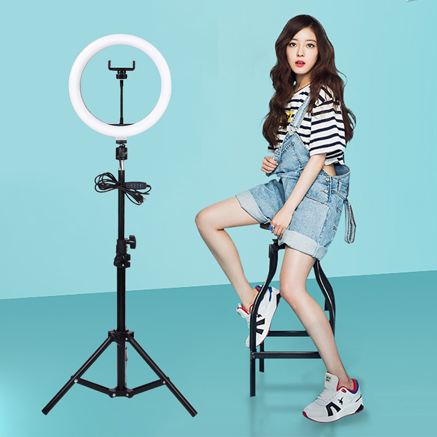MAMEN-Selfie-Ring-Light-26cm-Video-Dimmable-LED-Photography-Lighting-10-inch-lamp-Studio-For-Youtube(1)