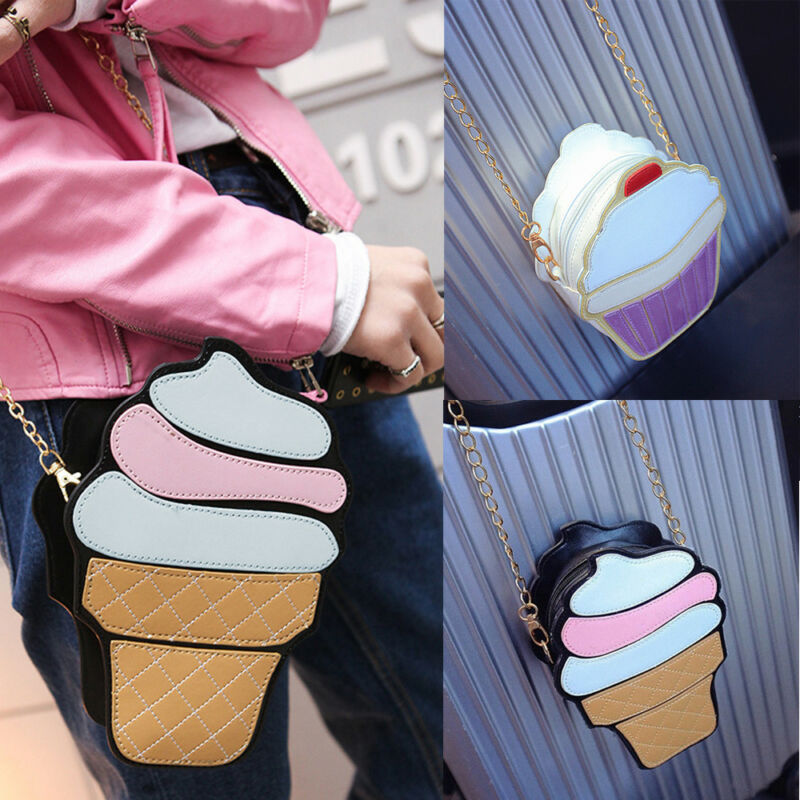 New Women Girl Ice Cream Cute Shoulder Bag Tote Messenger Crossbody Bags Handbag