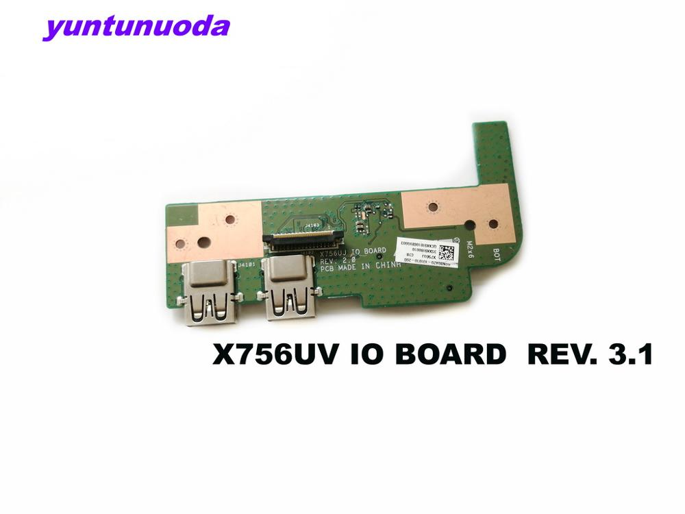 Original for <font><b>ASUS</b></font> X756UX X756UJ IO BOARD REV 3.1 X756UX X756UA X756UB X756UV <font><b>X756UXK</b></font> USB IO BOARD tested good free shipping image