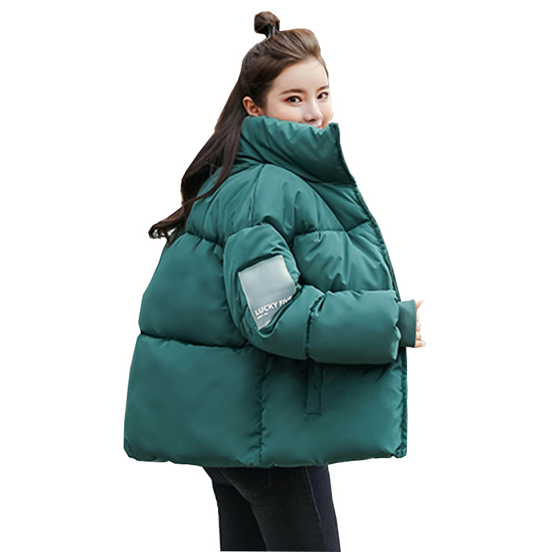 Winter Women Short Jacket Cotton Padded Jacket Female Parka Stand Collar Oversize Coats Abrigos Mujer Invierno