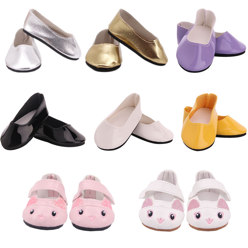 Doll Cute Cat / Colored Crystal Fashion Shoes Fit 18 Inch American Doll&43Cm Born Baby,Our Generation,Birthday Girl's Toy Gift