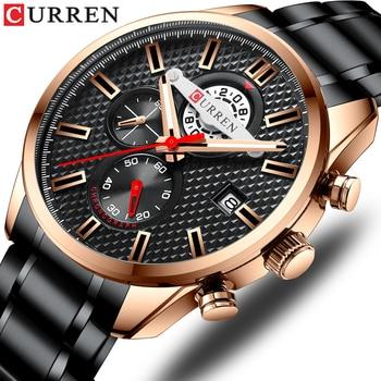 CURREN 8352 Fashion Men Watch Business Chronograph Quartz Wrist watch Waterproof Stainless Steel