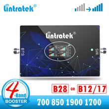 B28 LTE 4G Signal Booster cellulare 700 850 1900 1700 ripetitore 4 bande B2 B5 B4 2600 AWS 3G 4G amplificatore cellulare CDMA PCS B7