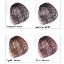 Bluelucky Hot Selling Fashion One Piece Clip On Remy Human Hair No Sideburns Air Bang