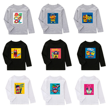 2019 New Kids T shirt For Boys Girls Long Sleeve T shirt Children Spring Autumn Clothes Cotton With Cartoon Pattern top quality brand new spring autumn children clothes kid girls dresses stylish long sleeve linen a line dress for 3 7yrs t shirt