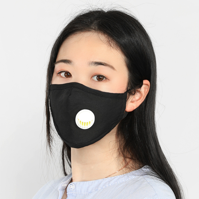 Anti dust-masks PM 2.5 mask Cotton dust  training masks wind proof mouth-muffle flu face masks Activated carbon filtration Black 5