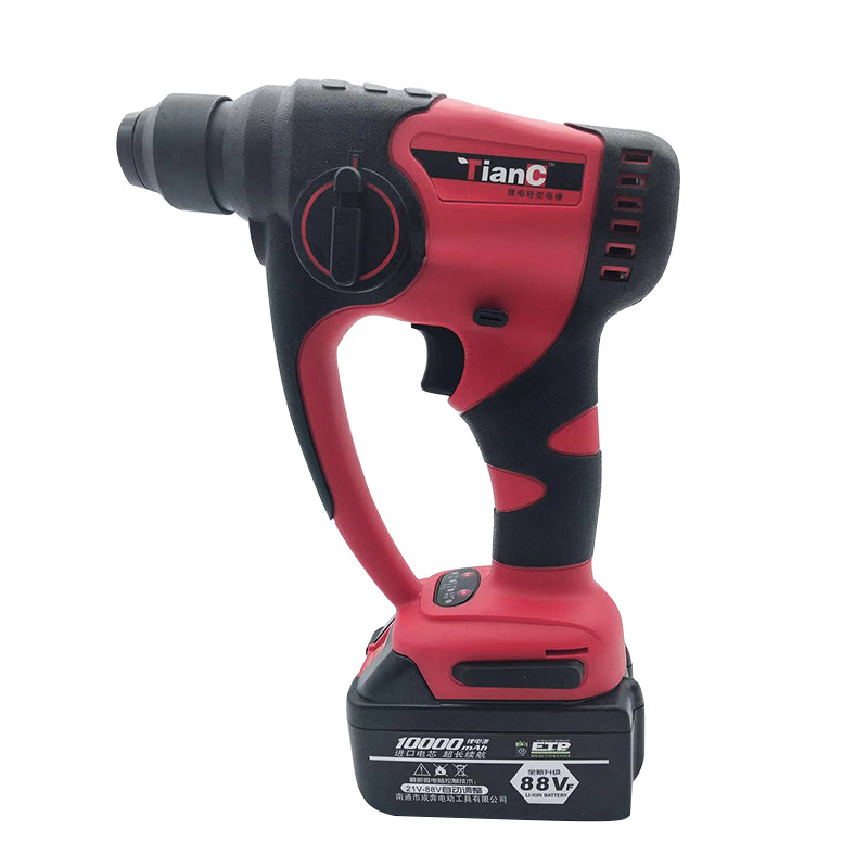 LIVTER Electric ROTARY HAMMER Power Tool Lithium Battery Electric Drill