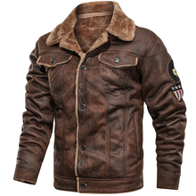 Winter Faux Leather Bomber Jacket Mens Motorcycles Suede Thick Velvet Coats Mens