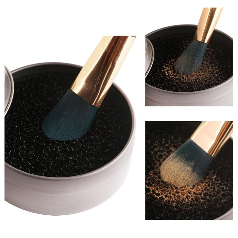 Makeup Brushes Cleaner Remover Color Off Make Up Brushes Cleaning Plastic Box Powder Brush Wash Cosmetic Cleaning pad Kits TSLM1