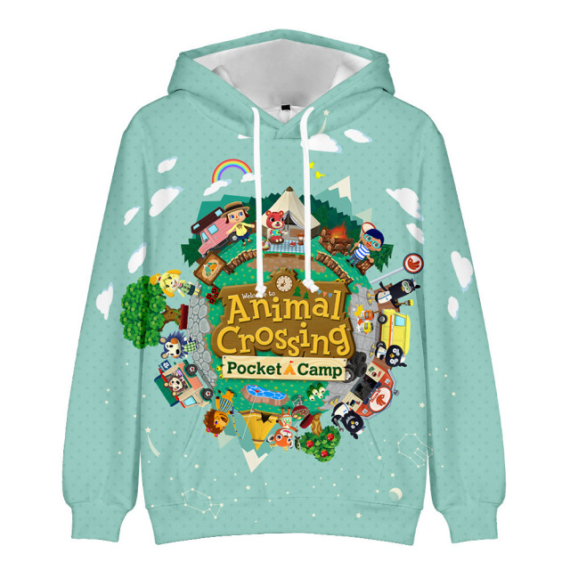 Fashion Men 3D Hoodies for Game Animal Crossing: New Horizons Cosplay Hoodie Unisex Hooded Coat Casual Sweatshirts