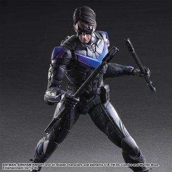цена на Play Arts DC Dick Grayson Action Figure Batman Arkham Knight No.6 Nightwing Toy Model 25cm