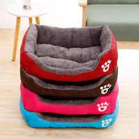 Pet Großen Hund Bett Warme Haus Candy-farbigen Quadratischen Nest Pet Kennel Für Small Medium Large Hunde Katze Welpen plus Größe Hund Körbe