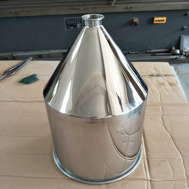 Food Grade Tri Clamp Conical Cylinder Hopper Stainless Steel Funnel