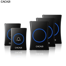 CACAZI Intelligent Home Wireless Doorbell Waterproof 300M Remote US EU UK AU Plu