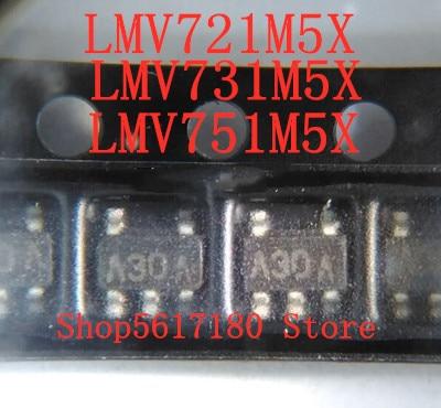10PCS LOT NEW LMV721M5X LMV731M5X LMV751M5X LMV721M5 LMV721 A30A LMV731M5 LMV731 A28A LMV751M5 LMV751 A32A SOT23