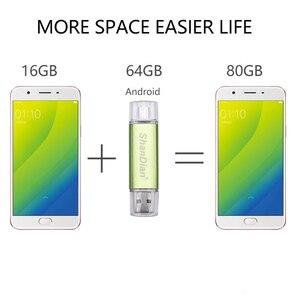 Image 5 - SHANDIAN Fashion flash drive OTG high Speed drive 64GB 32GB 16GB 8G 4GB external storage double Application Micro USB Stick gift