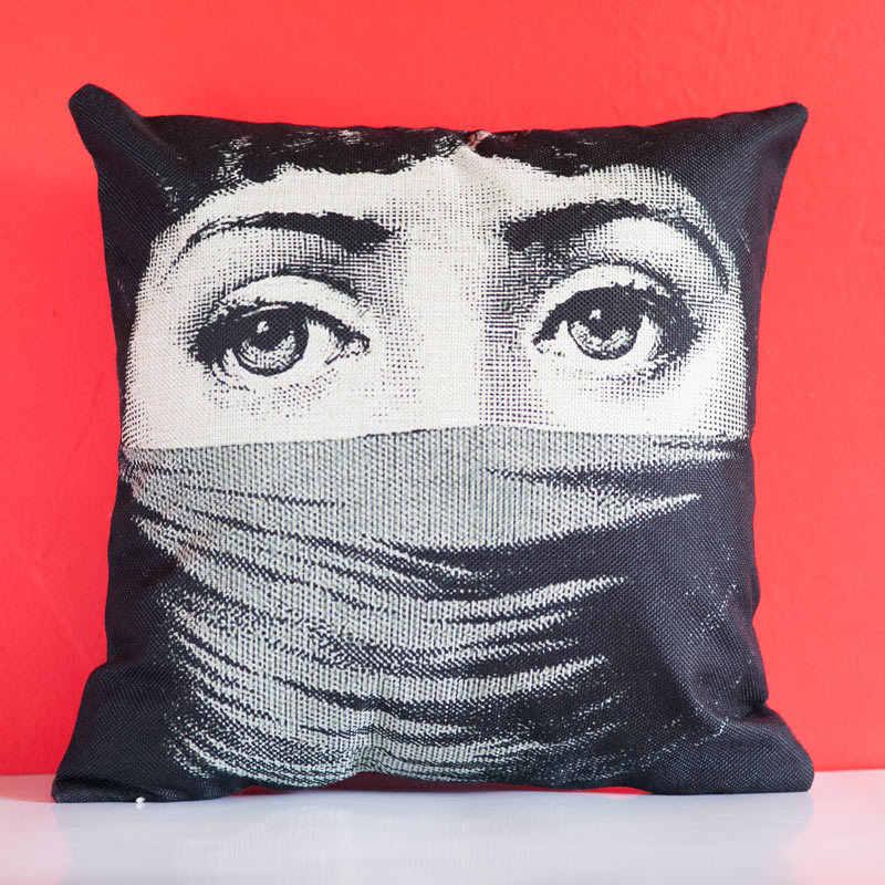 Fornasetti غطاء وسادة من الحرير فندق المنزل المطبوعة منقوشة صديقة للبيئة وسادة يغطي