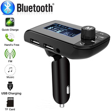 цена на Wireless Bluetooth Handsfree Car FM Transmitter LCD MP3 Dual USB Charger 3.1A Car Kit Player