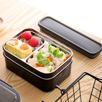 TUUTH Lunch Box Stainless Steel Double Layer Food Container BPA Free Portable for Kids Picnic School Bento Box