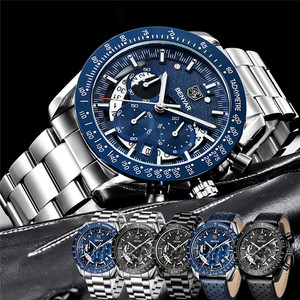 Image 5 - BENYAR אופנה ספורט שעון גברים למעלה מותג יוקרה שחור זכר הכרונוגרף שעון צבאי עמיד למים נירוסטה שעוני יד 5120