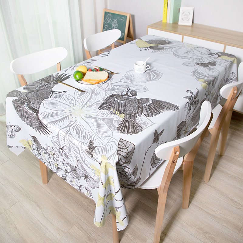 PVC Table Cloth Waterproof  Kitchen Table Cover Plaid Tablecloth Rectangular Ins Style Desk Accessories Soft Support Custom Size