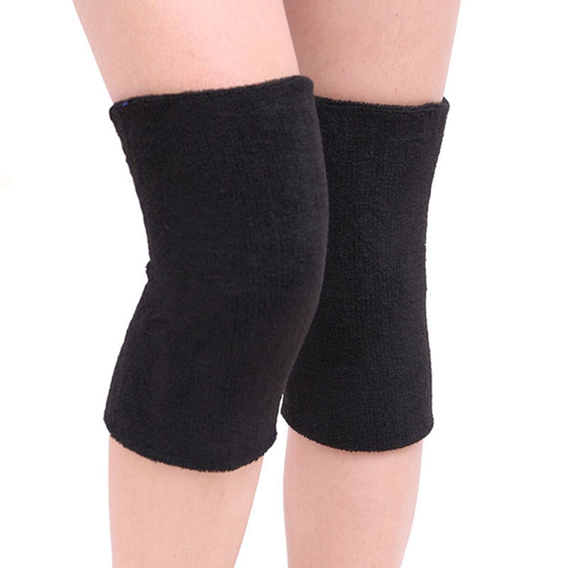 Unisex Breathable Warm Towel Non-slip Dance Ski Knee Pad Warm Protection Sport Leg Sleeve Kneelet Soft Knee Support 2PCS/Lot