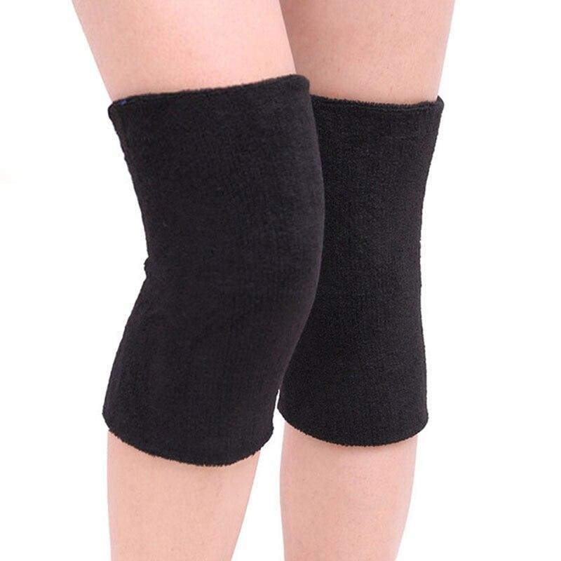 Unisex Breathable Warm Towel Non-slip Dance Ski Knee Pad Warm Protection Sport Leg Sleeve Kneelet Soft Knee Support 2PCS/Lot