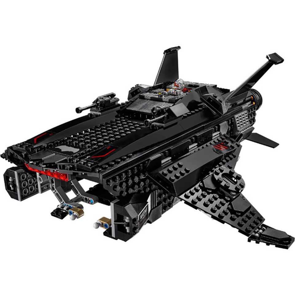 DC комиксы супер героев Бэтмен Летающий лиса Бэтмобиль Airlift атака строительные блоки Legoing Бэтмен 76087 кирпичи мальчик подарки игрушки