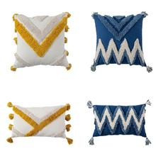 Throw Pillow Cover Tufted Full Cotton Soft Pillow Cushion Case For for Home Chair Sofa Pillow Cover 30x50cm/45x45cm