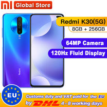 "Originele Xiaomi Redmi K30 5G 256Gb 8Gb Snapdragon 765G Octa Core Smartphone 6.67 ""64MP Quad achteruitrijcamera 4500Mah(China)"