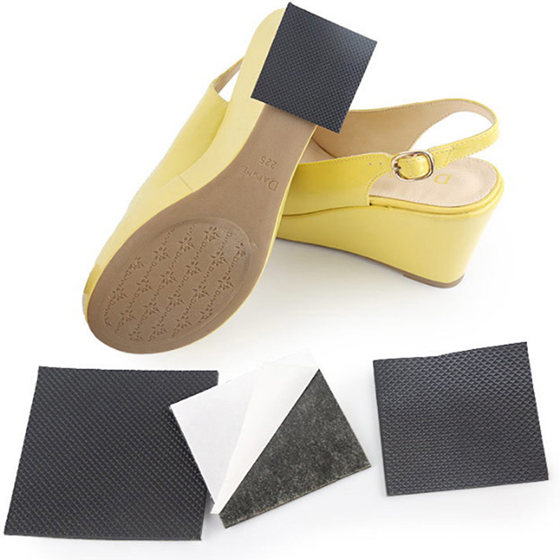 1pair Durable Anti-Slip Self-Adhesive Shoes Mat Non Slip Insole High Heel Sticker High Heel Sole Protector Rubber Pads Cushion
